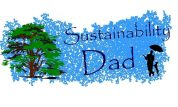 sustainable dad logo man tree dog