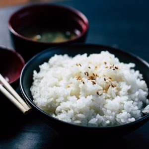 rice in bowl essential nutrient carbohydrate