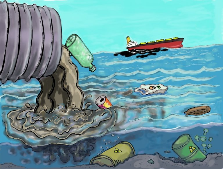 pollution going into the sea sustainable living