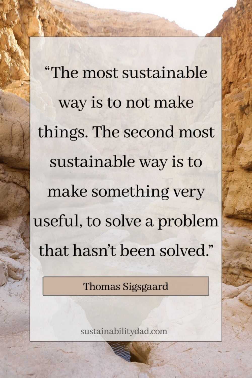 sustainability quotes problem solved