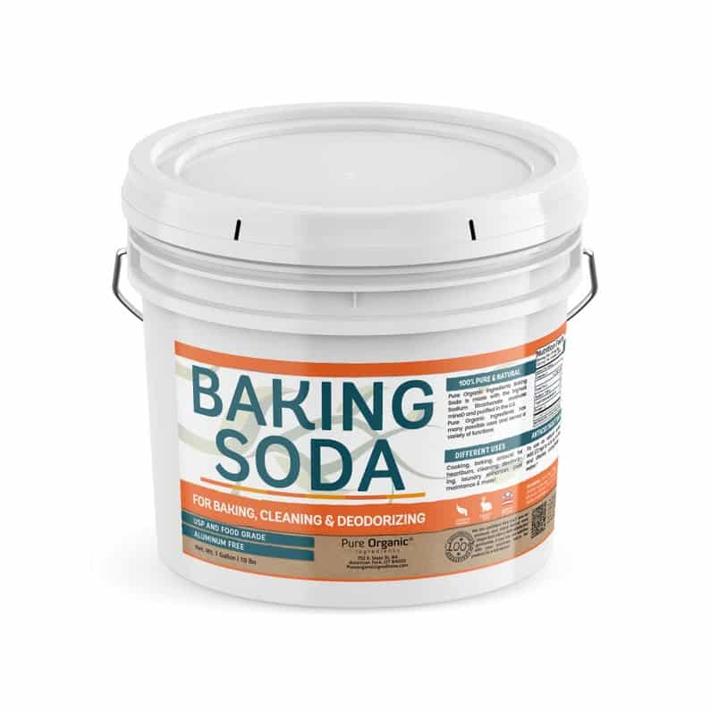 Tub of baking soda