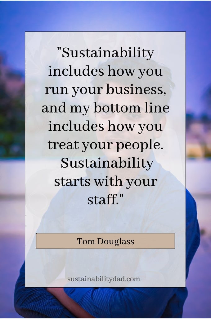Recycling and sustainability quotes ethical business - staff