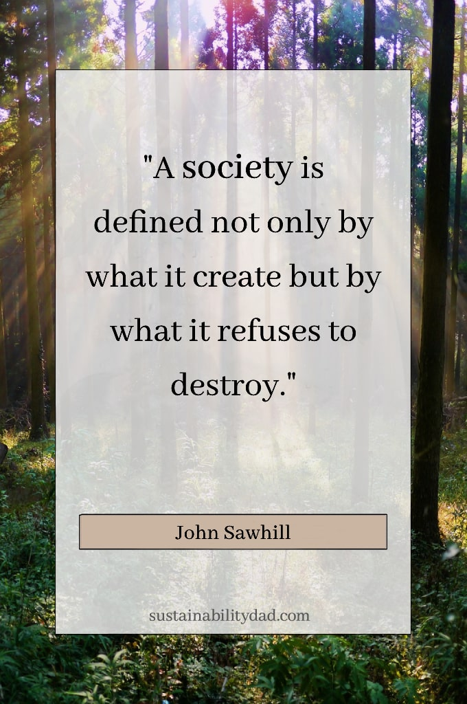 Recycling and sustainability quotes ethical business - defined by what it refuses to destroy