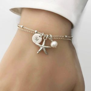 Beautiful quotes starfish bracelet
