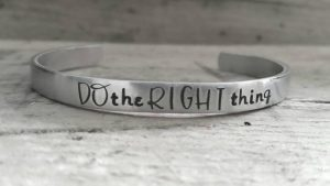 doing the right thing bracelet